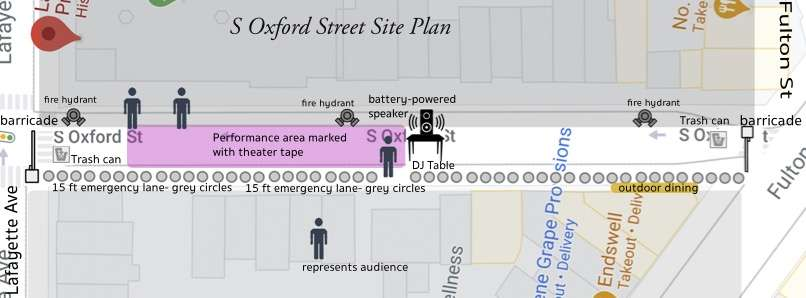 S Oxford Street Site Map